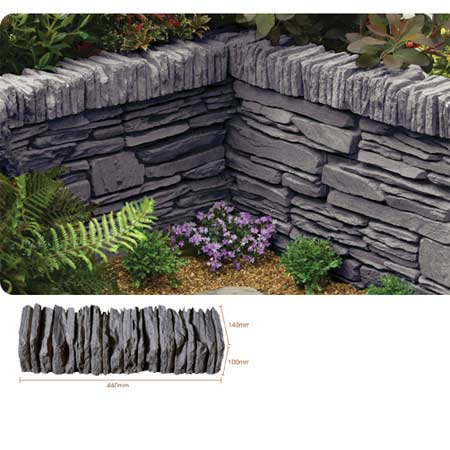 Kelkay Daleside Walling, Coping or Edging Stone Valley Slate (48 Pieces)