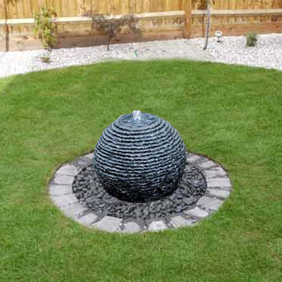 Granite Sphere Water Feature 50cm With LED Lights