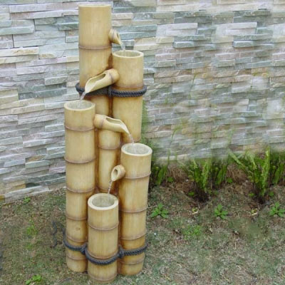 Medium bamboo poles water feature water features 2 go for Bamboo water feature