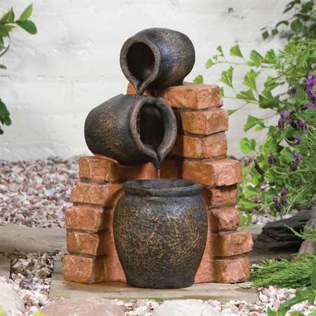 Mini Spilling Urns Garden Water Feature Water Features 2 Go