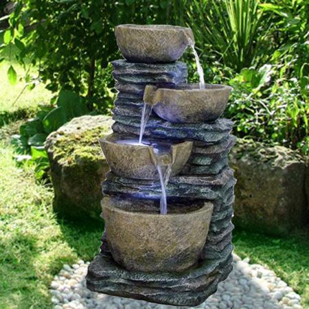 how to make slate water fountain