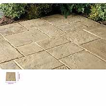 Kelkay Minster Paving Autumn Brown 300 x 300mm Bulk Pallet