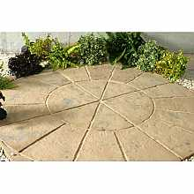 Minster Circle Paving Kit 1.8m in Autumn Brown