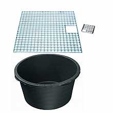 Reinforced heavy duty pebble pool 1400mm diameter