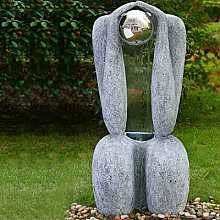 Granite sitting man water feature