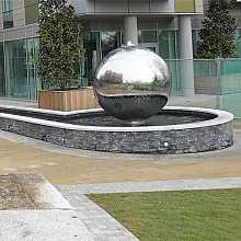 Aterno30 - 3000mm stainless steel sphere water feature