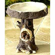 Woodland Squirrel Bird Bath