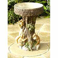 Squirrel Tree Bird Bath