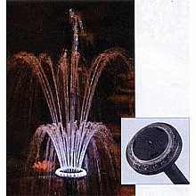 "Fountain head with LED light 1"" connetion"