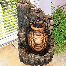Kelkay Flowing Urn Indoor Water Feature