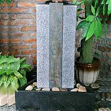 Triangular Granite And Slate Column Water Feature
