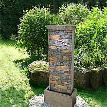Curved Sheet Brick Effect Water Feature