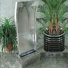 Solar Powered Peking Stainless Steel Fountain Water Feature