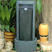 Plain oval tower water feature