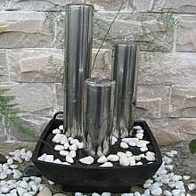 Alexandria Stainless Steel Table Top Indoor Water Feature