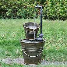 2 Tin Buckets with Tap Water Feature