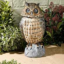 Owl with Moving Head, Brown by Smart Solar