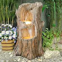 2 Level Tree Trunk Water Feature