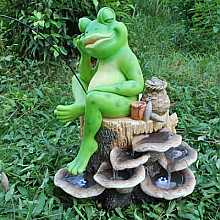 Fishing Frog Water Feature