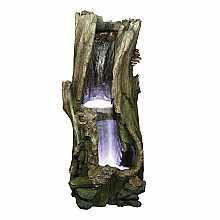 Kelkay Oak Falls Water Feature with LED Lights