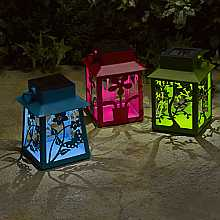 Metal Fret Lanterns, 3 pack by Smart Solar