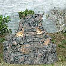 XL Wide Rock Water Feature
