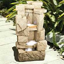 Carved Sandstone Rock Fall Water Feature
