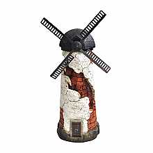 Kelkay Rustic Windmill Water Feature with LED Lights