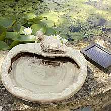 Ceramic Dove Fountain Water Feature - Cream