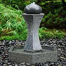 Granite Patio Water Feature Inkomo With LED Lights