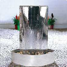 Calore by Aqua Moda in Stainless Steel Base Water Feature