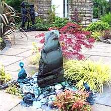 Slate Monolith Water Feature 100cm - 130cm high