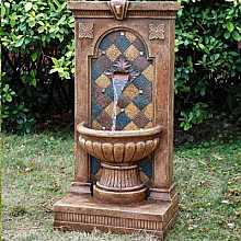 Tiled Mediterranean Arch Water Feature