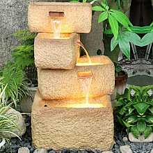4 Offset Sandstone Troughs Water Feature