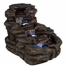Kelkay Rock Cascade Water Feature with LED Lights