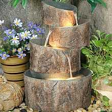 4 Circular Stone Troughs Water Feature