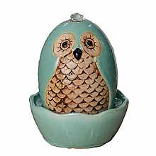 Kelkay Molly Mint Owl Water Feature