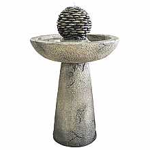 Kelkay Pebble Bird Bath Easy Fountain Water Feature