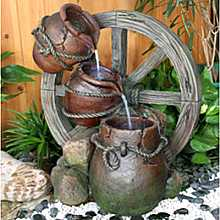 3 Urn Cartwheel Water feature