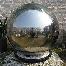 Lyon Stainless Steel Sphere Water Feature Fountain