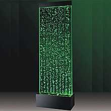 Large Floor Standing Bubble Wall with Colour Changing LED Lights