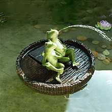 Frogs on Barrel Solar Pond Floater