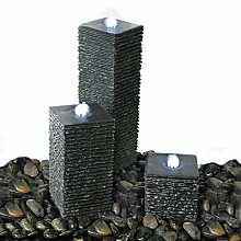 Buesento by Aqua Moda Granite Water Feature With LED Lights