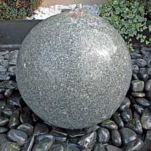 Polished Granite 40cm Sphere Water Feature