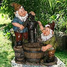 2 Gnomes at Pump Water Feature