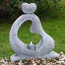 Blue Granite Embracing Couple