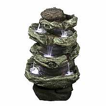 Kelkay Spiral Spills Water Feature with LED Lights