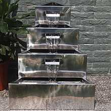 Lagos Stainless Steel Fountain Water Feature