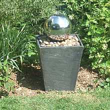 Windrush Fountain Water Feature - Slate and Steel Ball