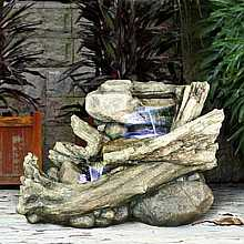 Driftwood 3 Falls on Stone Water Feature